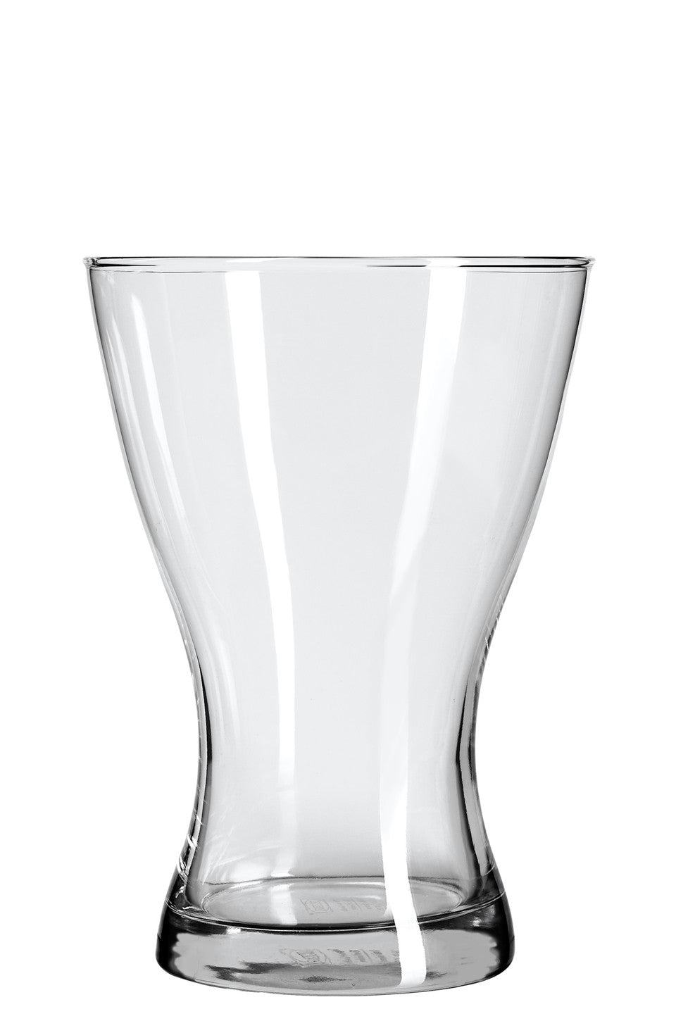 Wide-mouth glass vase