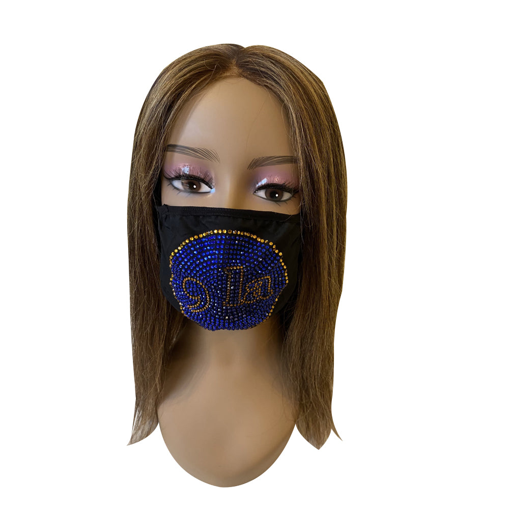 Comma La, Kamala Harris Face Mask Gold