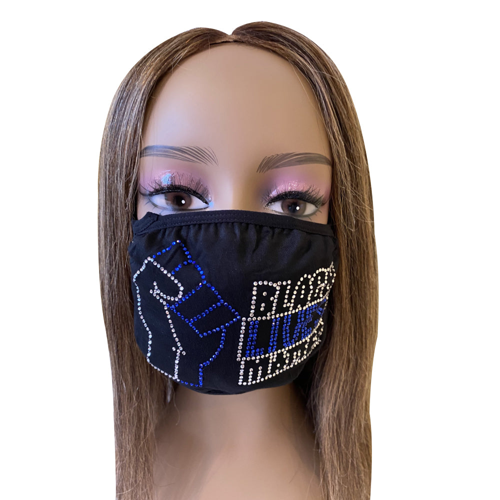 Black Lives Matter Mask Blue