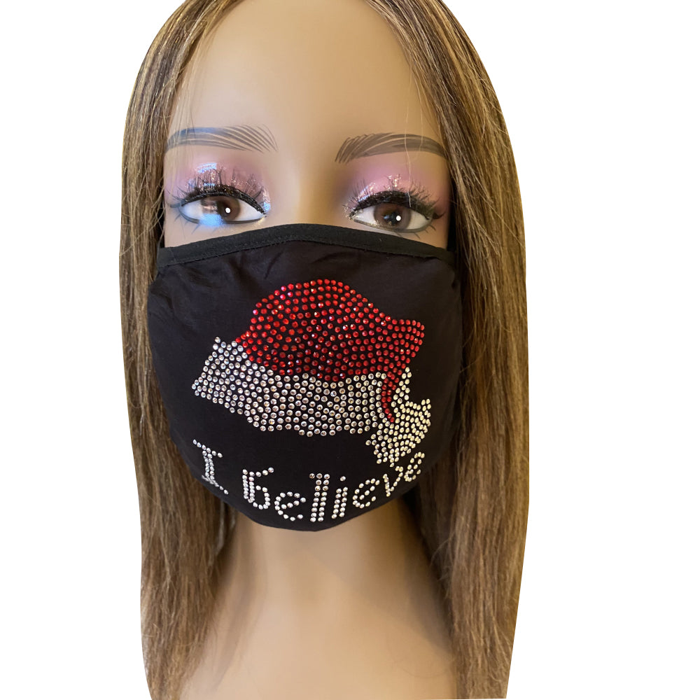 Christmas Bling Face Mask I Believe