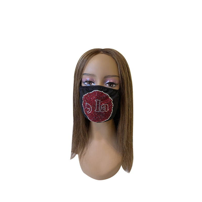 Comma La, Kamala Harris Face Mask Red