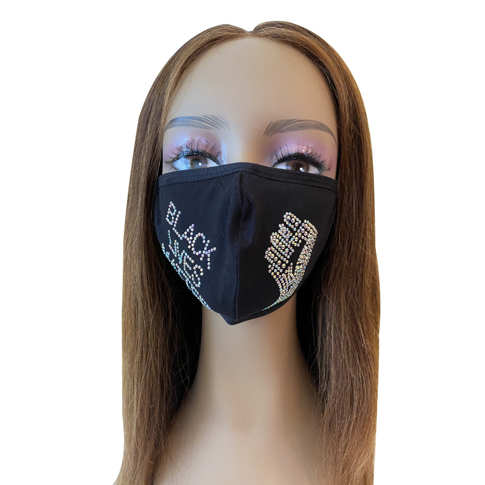 Black Lives Matter Mask  AB Color Adjustable Ear Loops