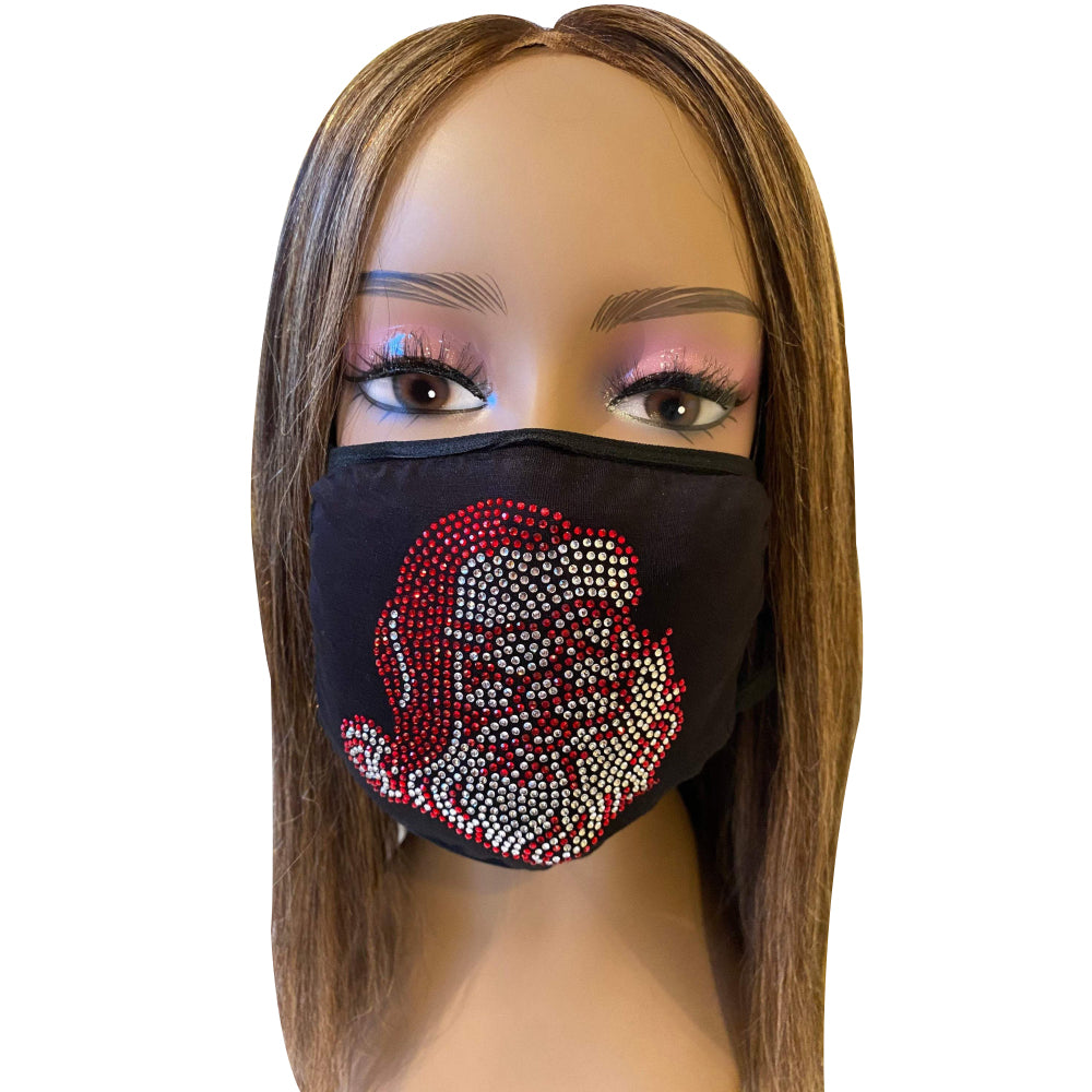 Christmas Bling Face Mask Santa