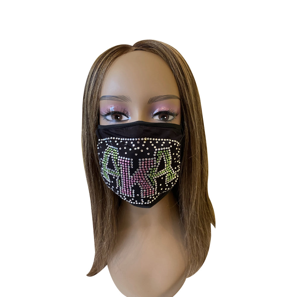 Alpha Kappa Alpha Shadow Design Face Mask