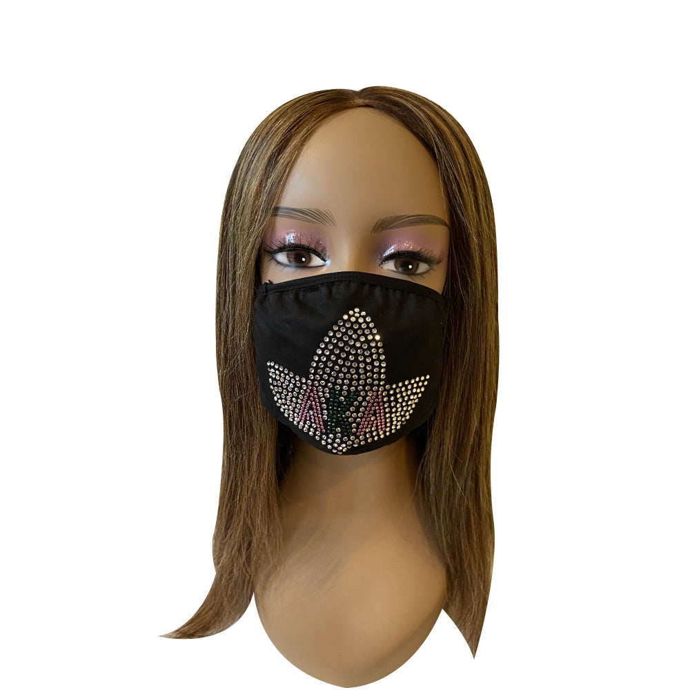Alpha Kappa Alpha Icy Ivy Design Face Mask