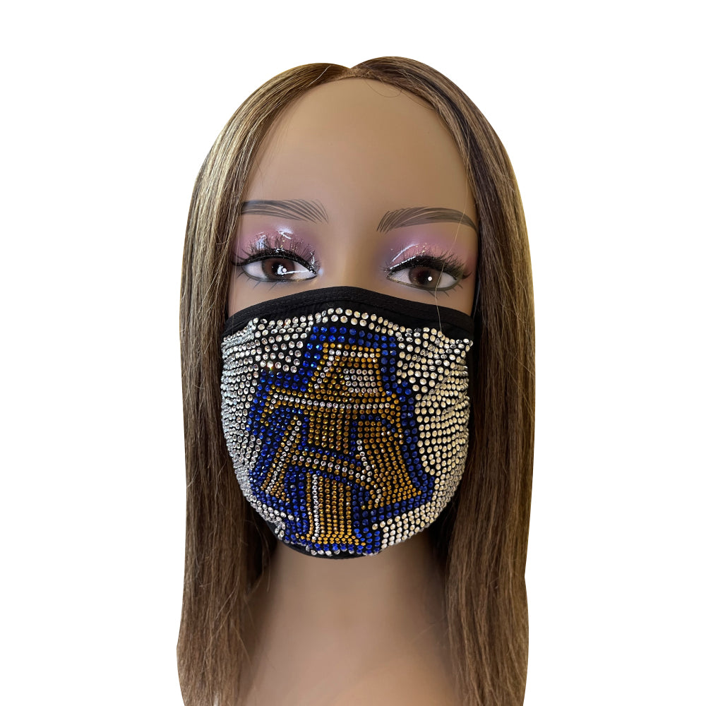 North Carolina A & T Aggies Bling Face Mask