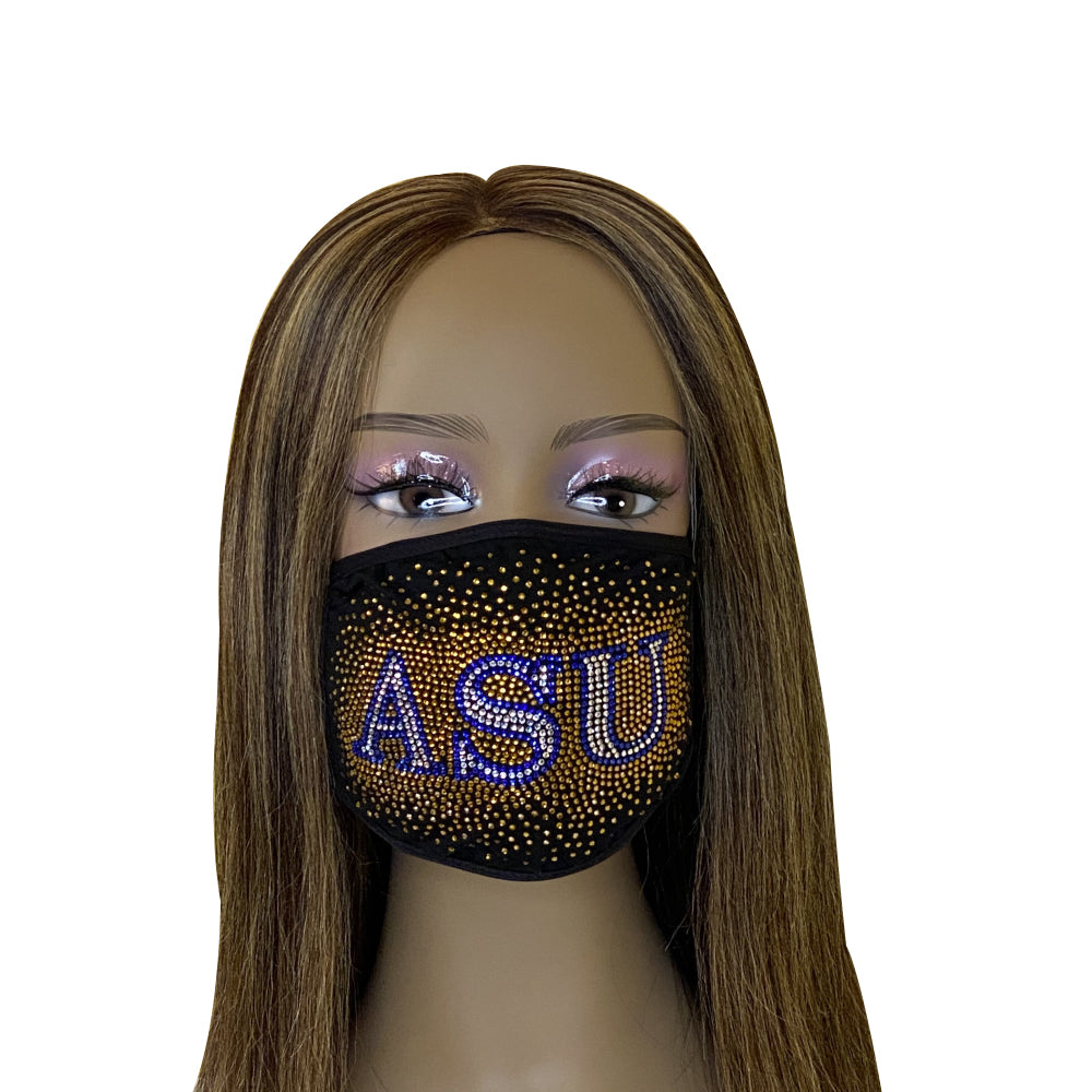 Albany State University Bling Face Mask with Filter Pocket and Filter