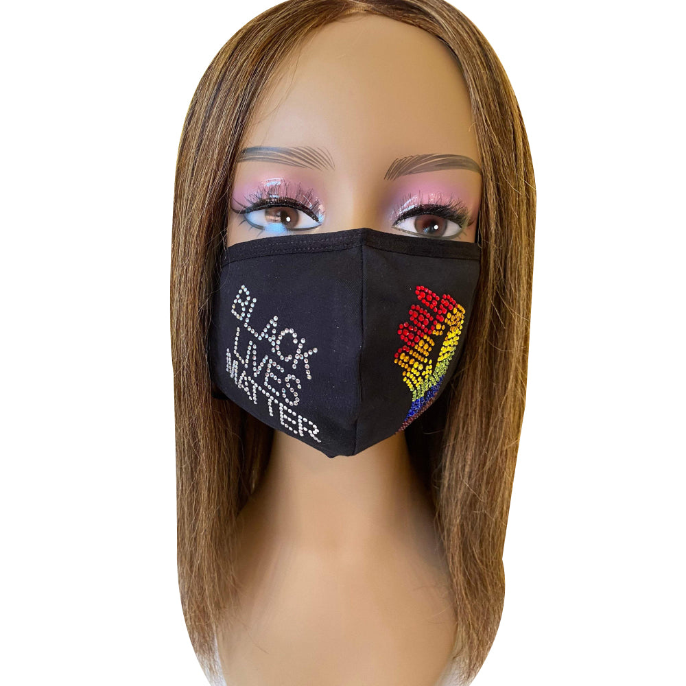 Black Lives Matter Gay Pride Rainbow Mask
