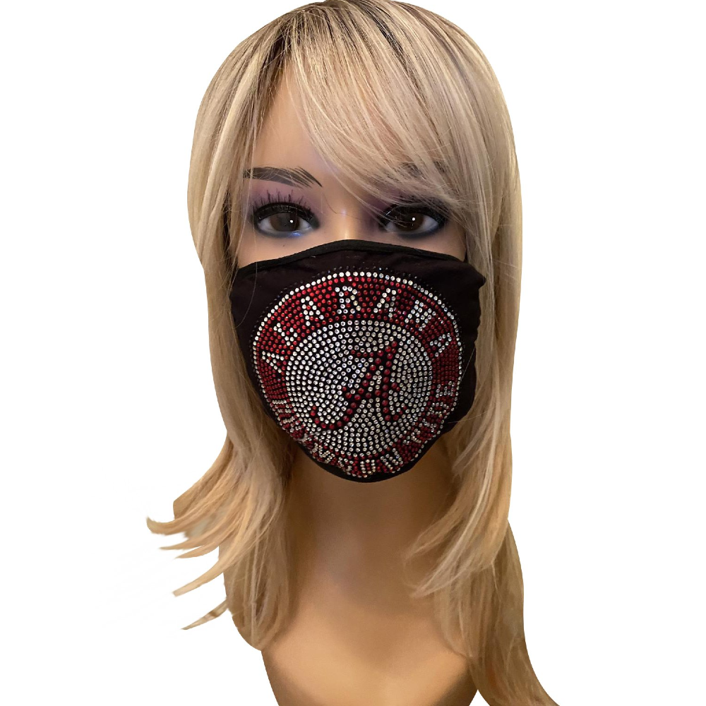 University of Alabama Crimson Tide Bling Face Mask with Filter