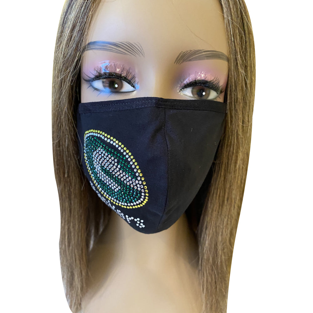Green Bay Packers Side Logo Bling Face Mask