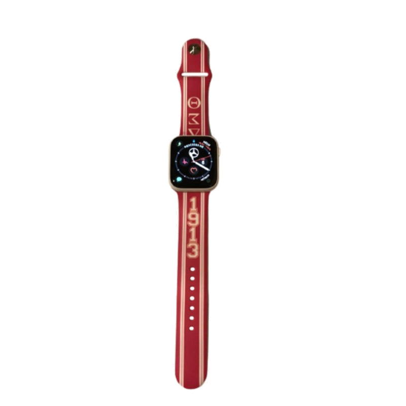 Delta Sigma Theta Apple Watch Band Size 38/40