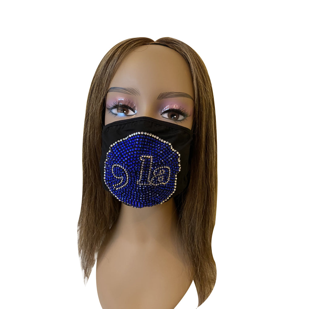 Comma La, Kamala Harris Face Mask Blue