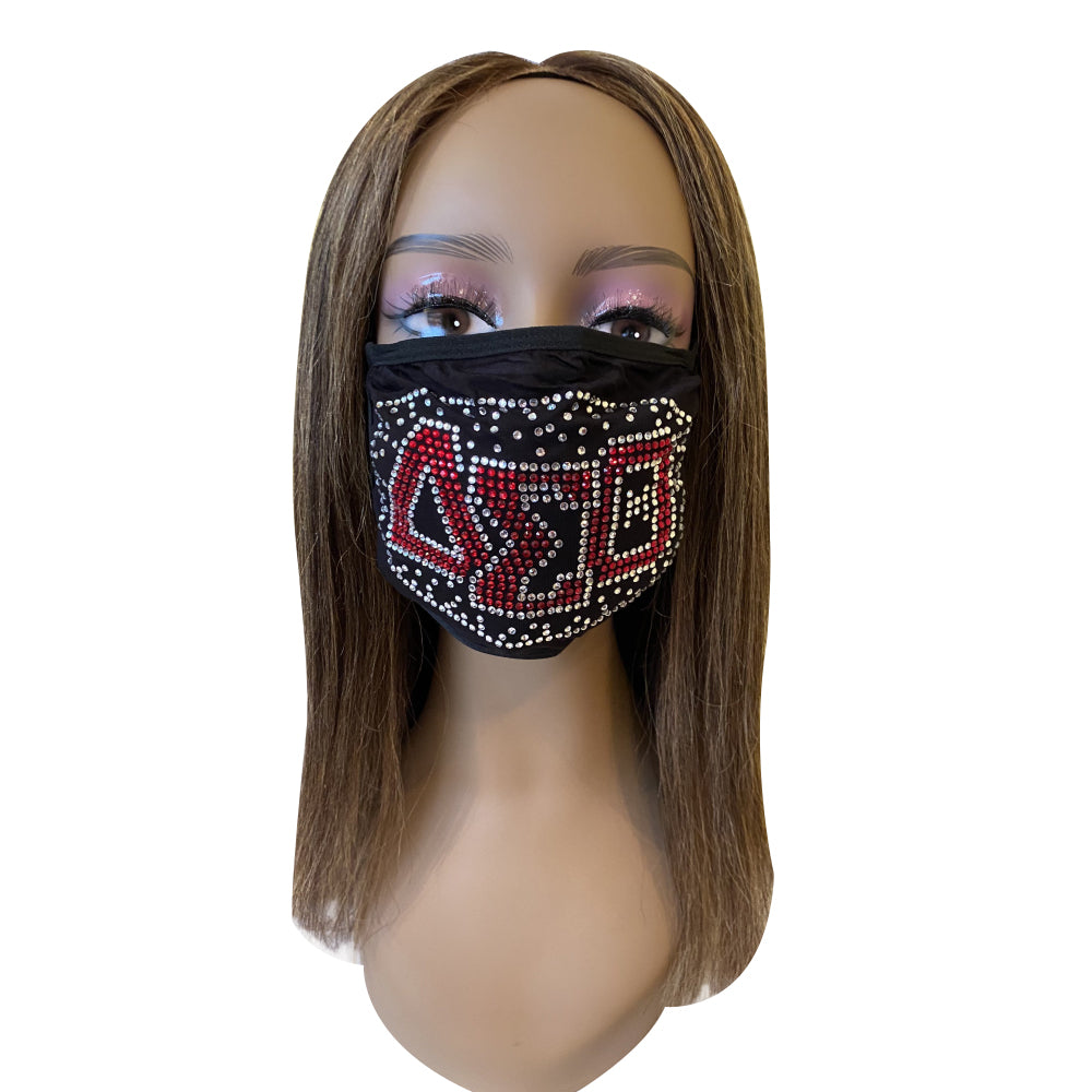 Delta Sigma Theta Shadow Design Face Mask