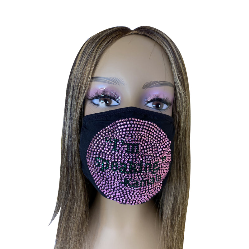 Kamala I'm Speaking Bling Face Mask Pink