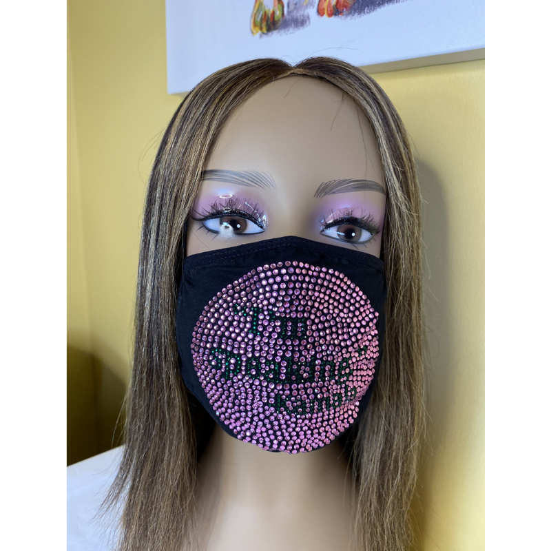 Kamala Harris I'm Speaking Bling Face Mask Pink | Simply For Us