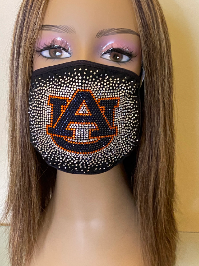 Auburn University Tigers Bling Face Mask