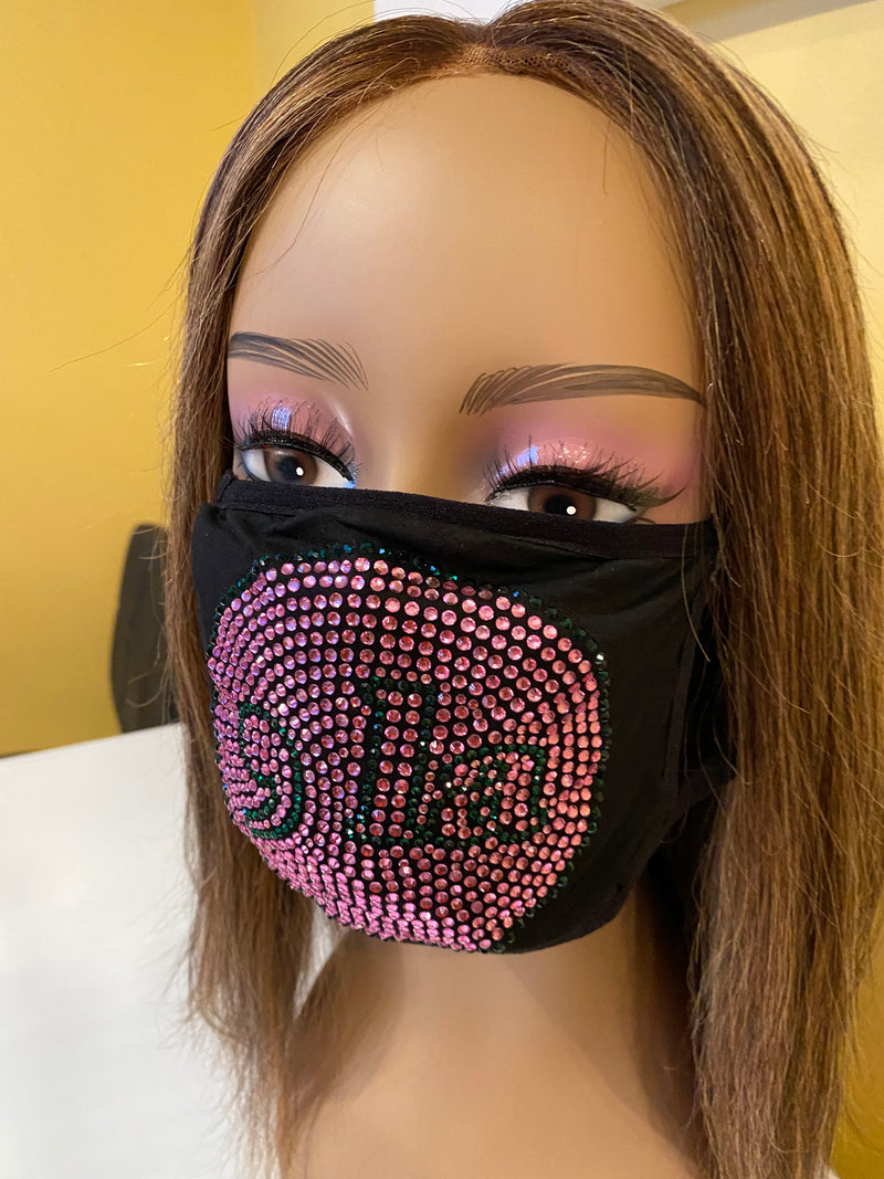 Comma La, Kamala Harris Face Mask Pink | Simply For Us