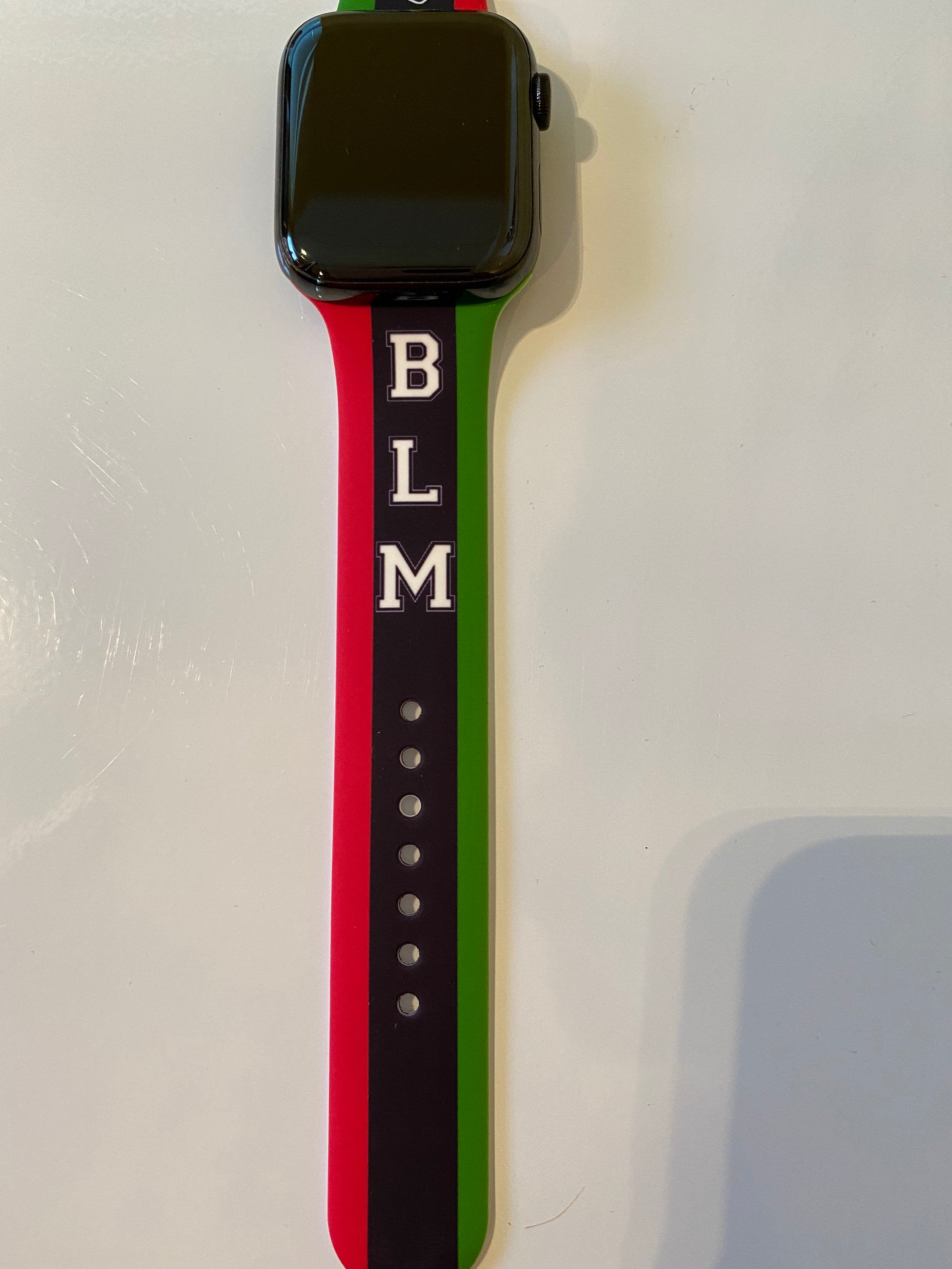 Black Lives Matter Silicone Apple Watch Band | Simply For Us