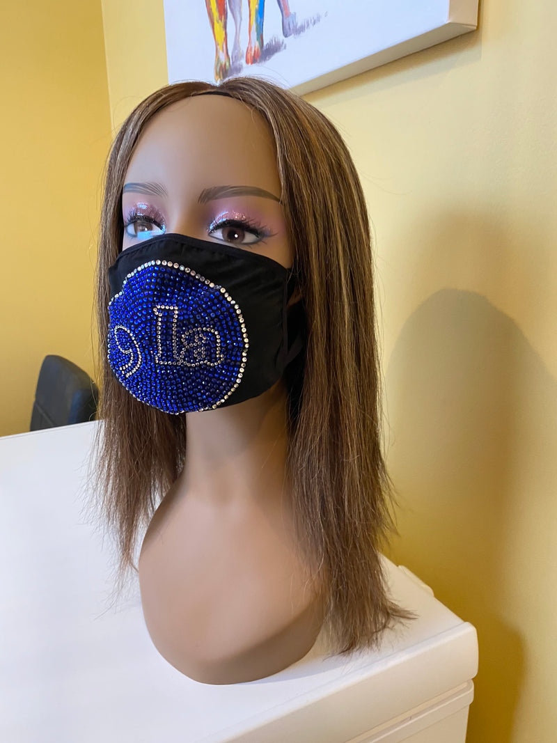 Comma La, Kamala Harris Face Mask Blue | Simply For Us