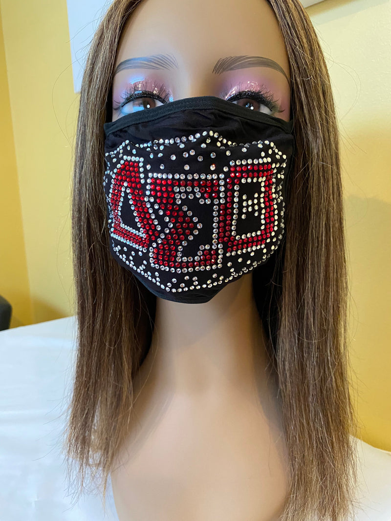 Delta Sigma Theta Shadow Design Face Mask | Simply For Us