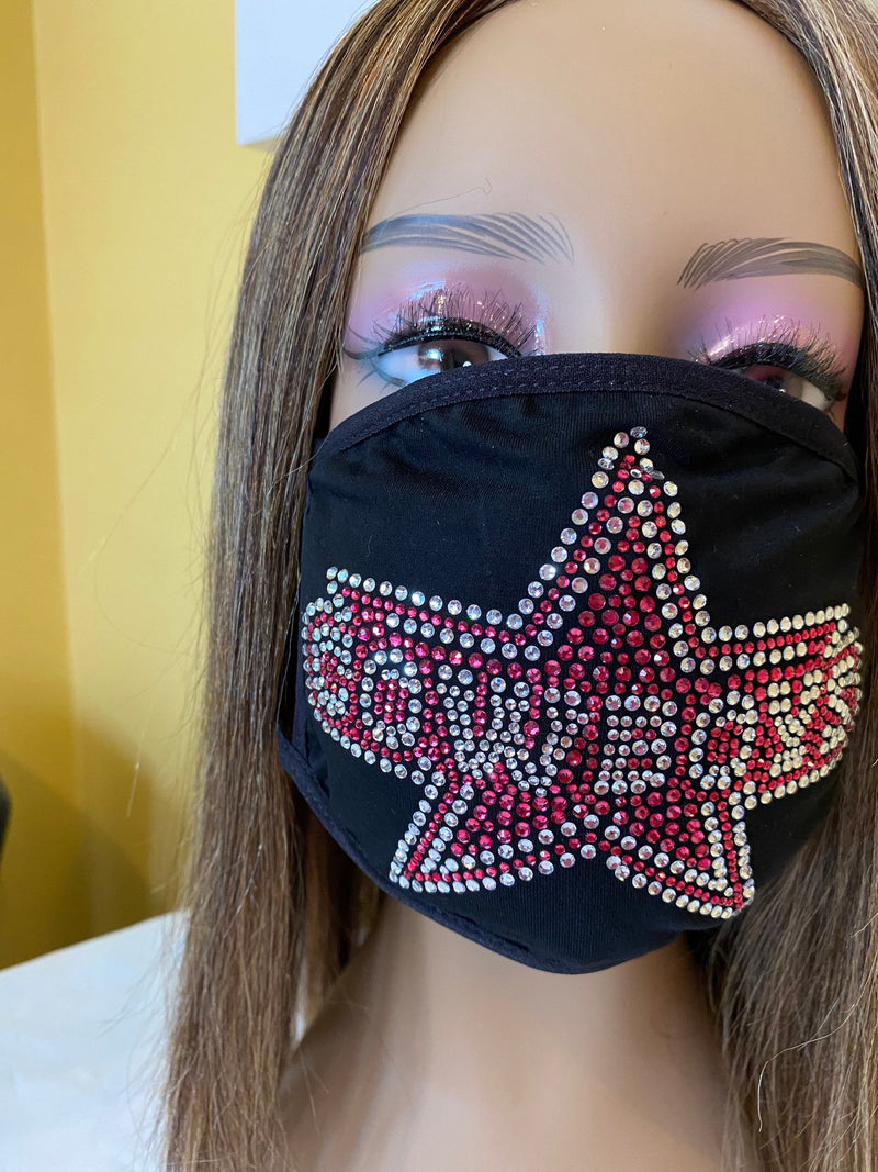 Dallas Cowboys Pink Bling Face Mask | Simply For Us