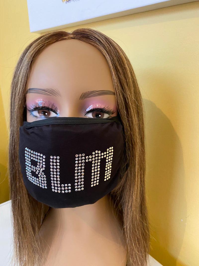 Black Lives Matter Mask Bling Mask Crystal Color | Simply For Us