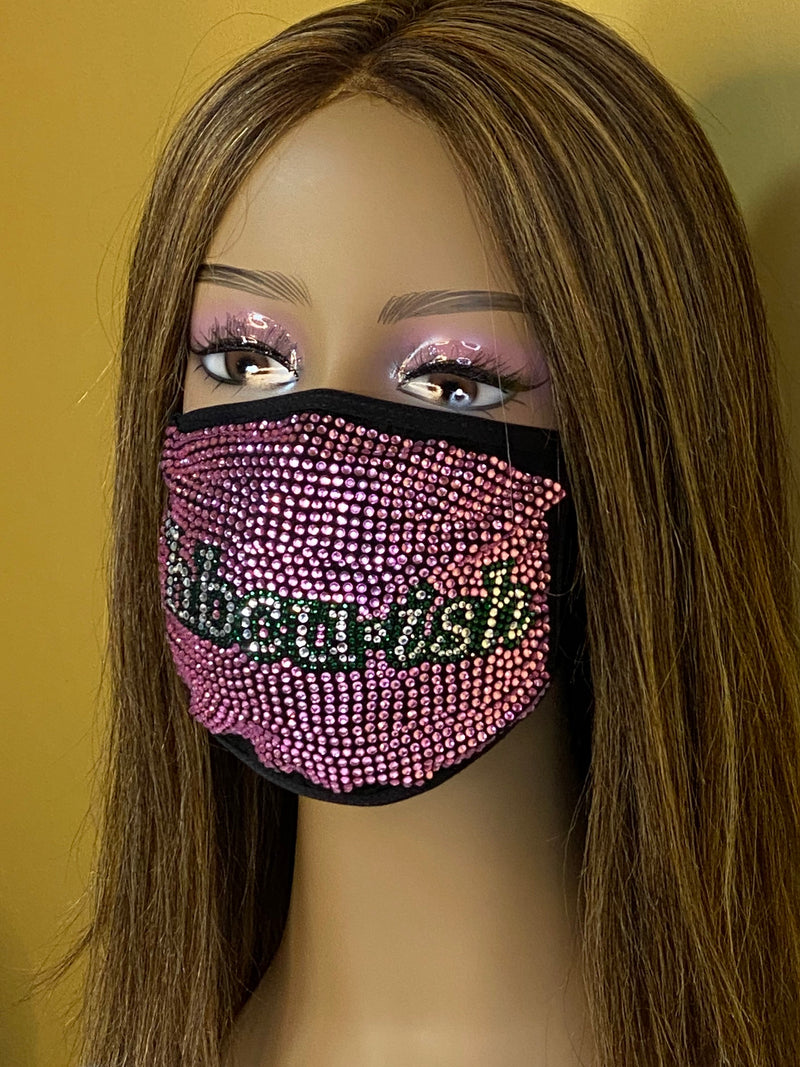 HBCU-ish Bling Face Mask Pink | Simply For Us