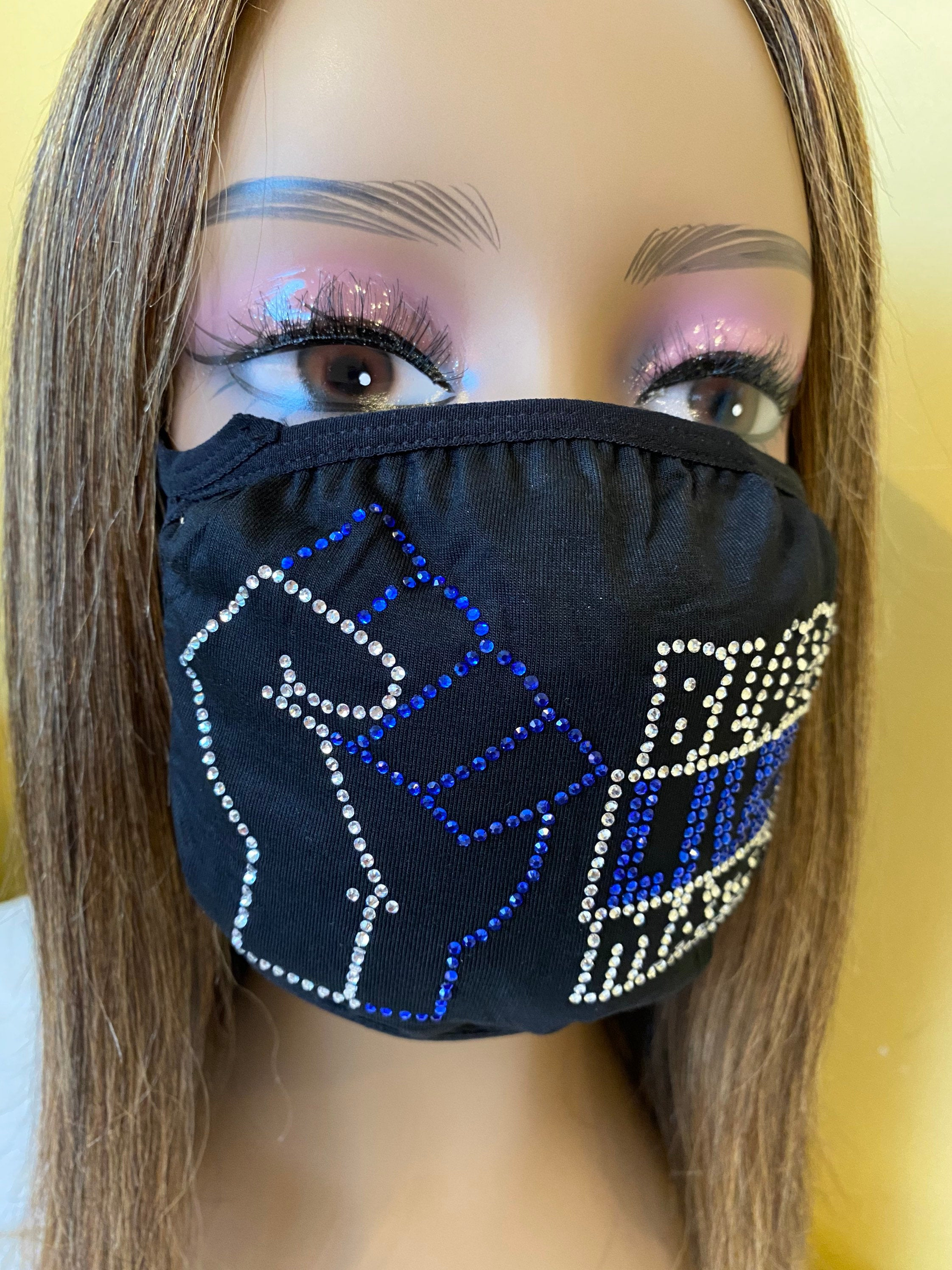 Black Lives Matter Mask Blue | Simply For Us