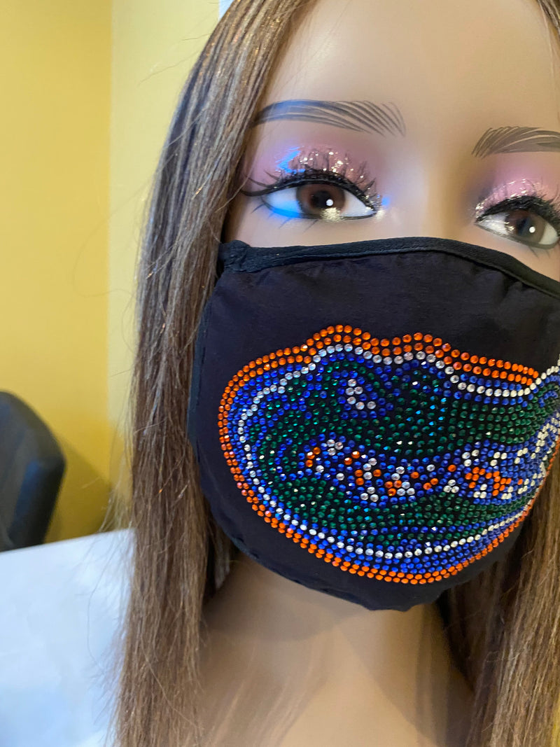 University of Florida Gators Bling Face Mask | Simply For Us
