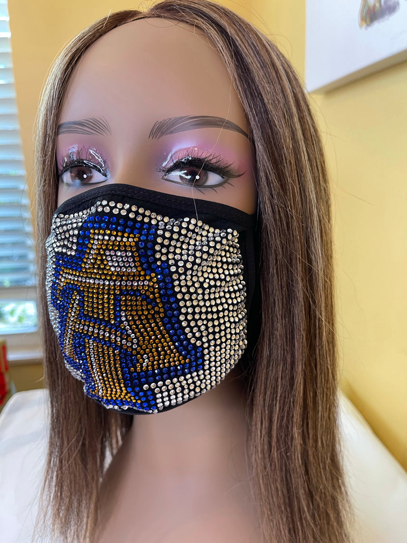 North Carolina A & T Aggies Bling Face Mask | Simply For Us