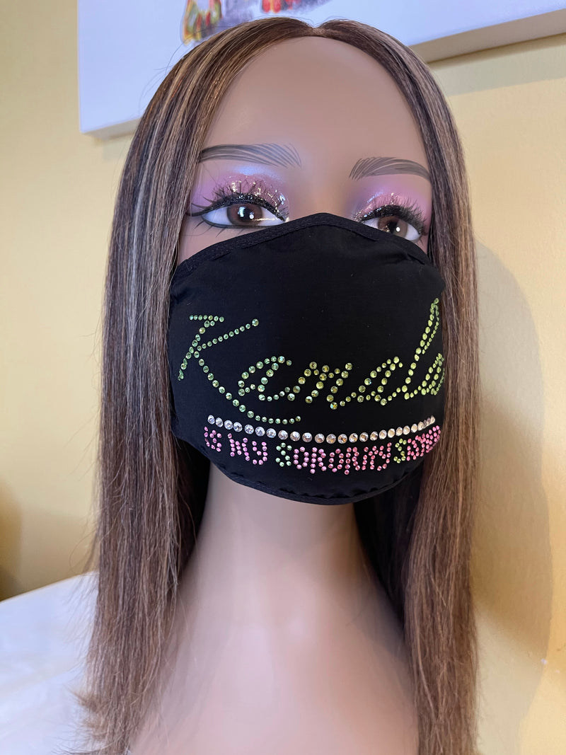Alpha Kappa Alpha Kamala Is My Sorority Sister Bling Face Mask