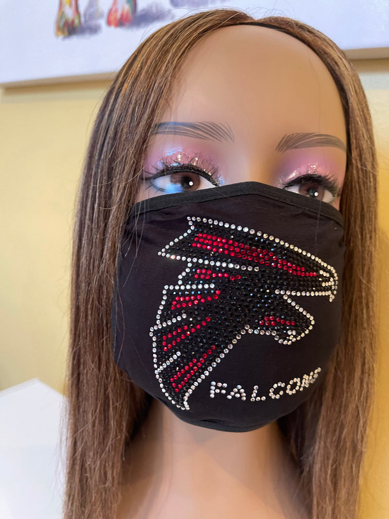 Atlanta Falcons Bling Face Mask Front Logo