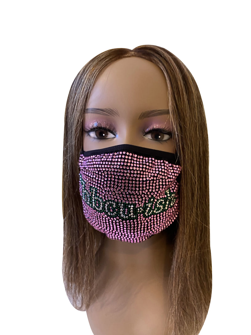 HBCU-ish Bling Face Mask Pink