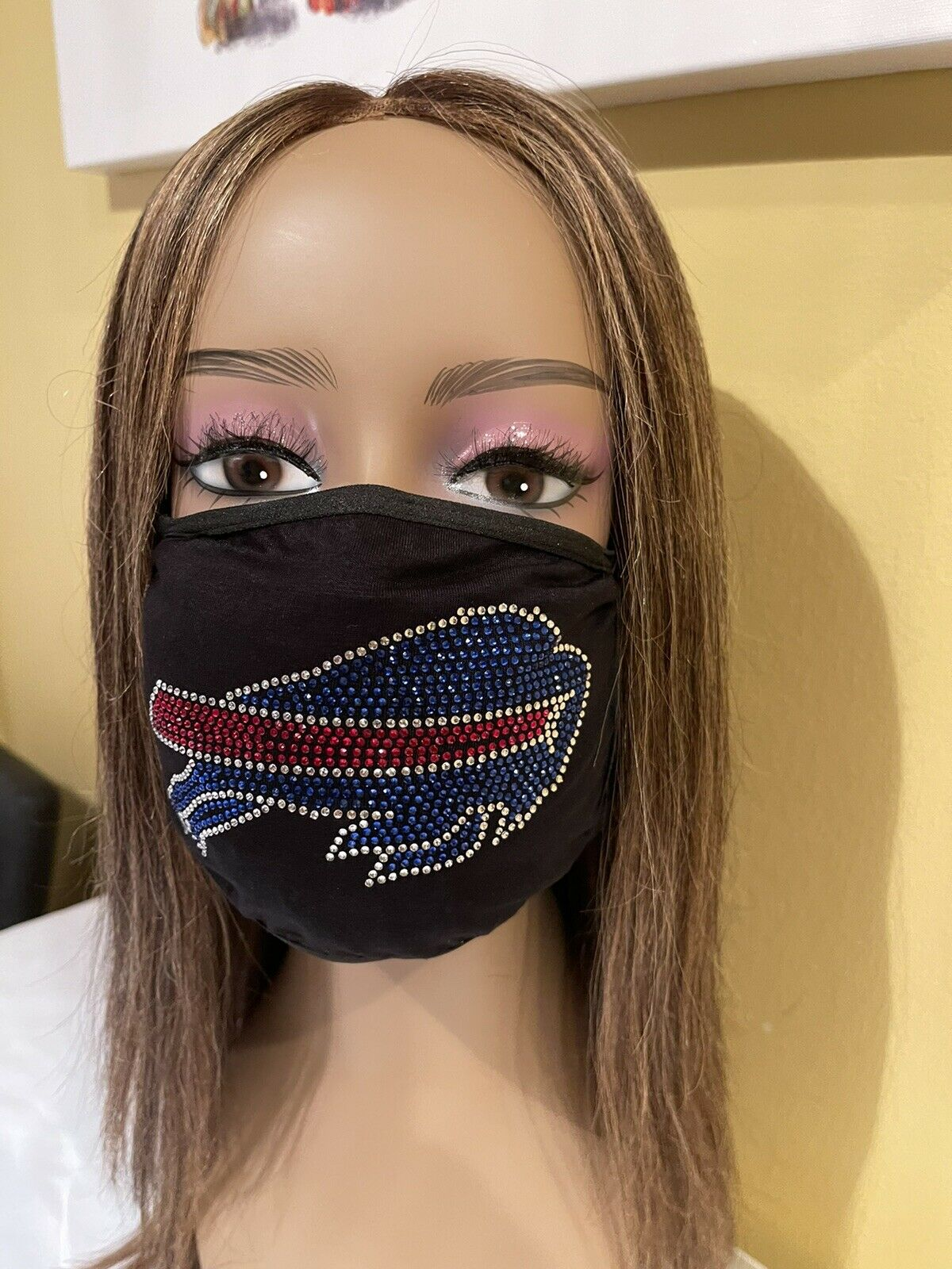 Buffalo Bills Rhinestone Bling Face Mask