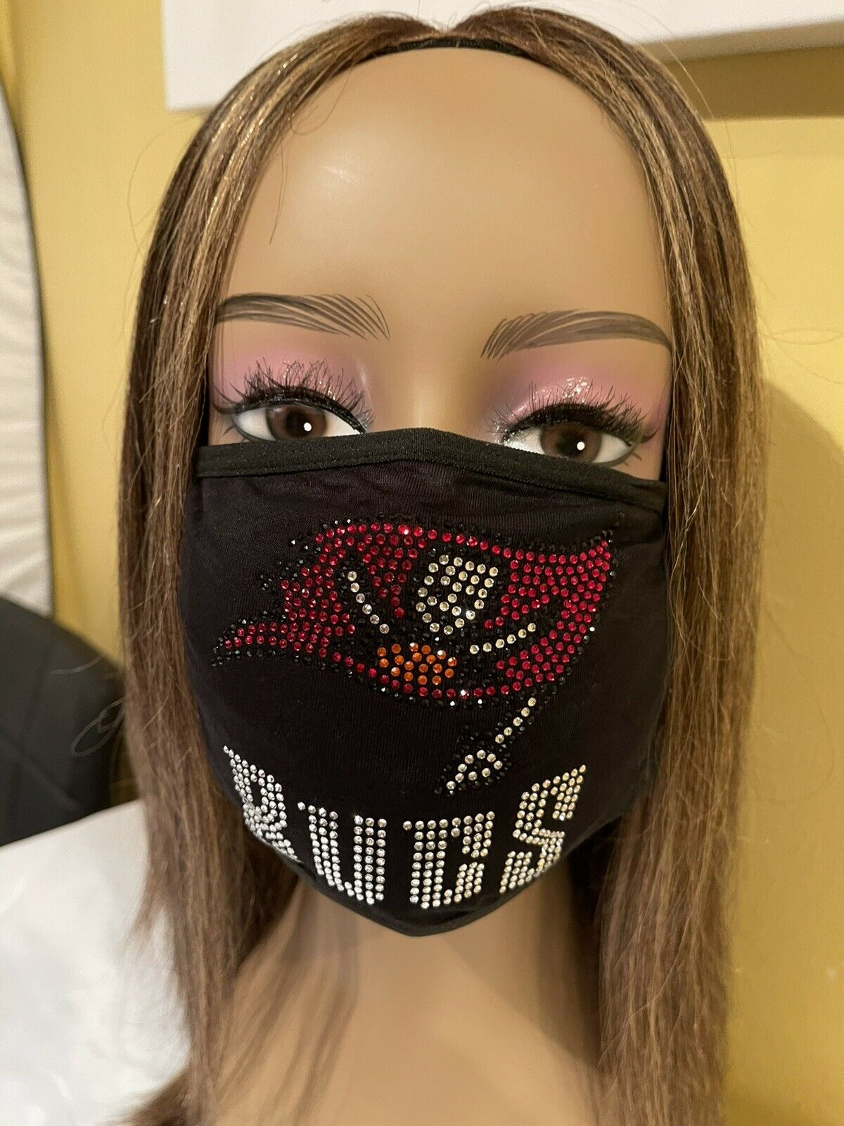 Tampa Bay Buccaneers Rhinestone Bling Face Mask