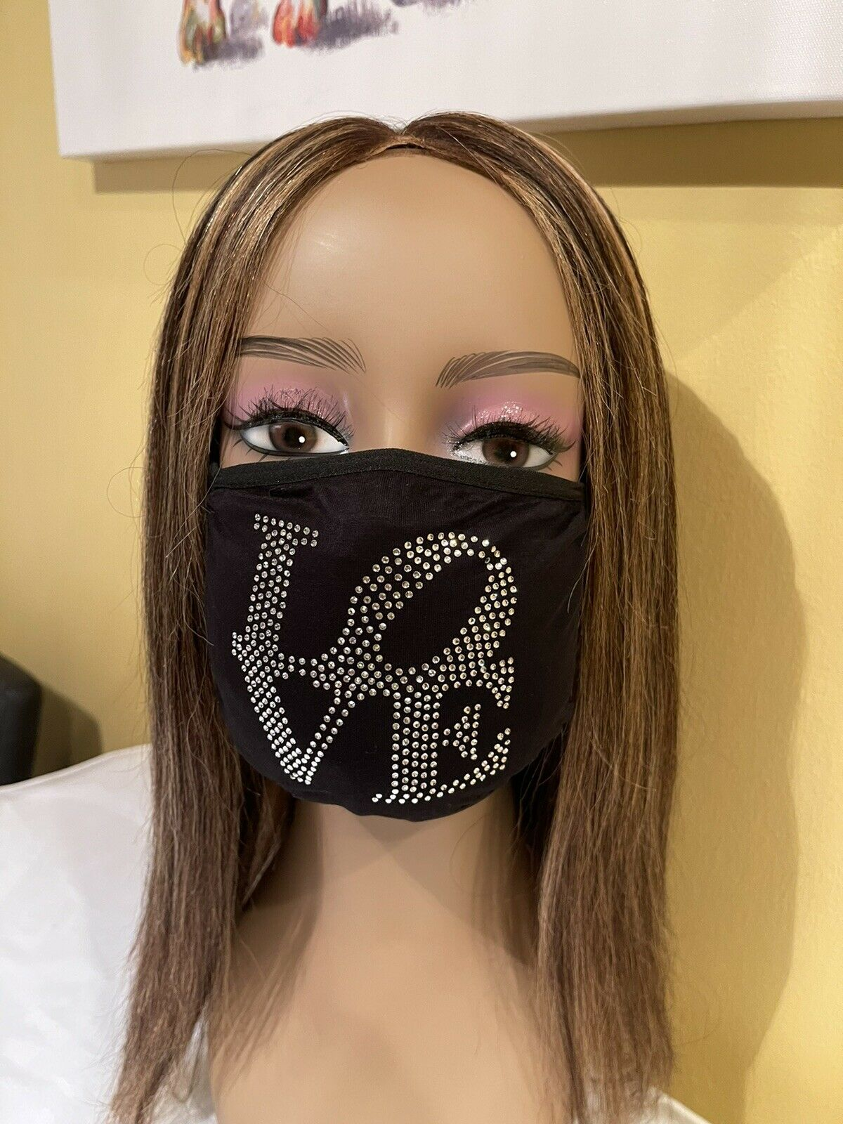 Valentine's Day Love Rhinestone Bling Face Mask