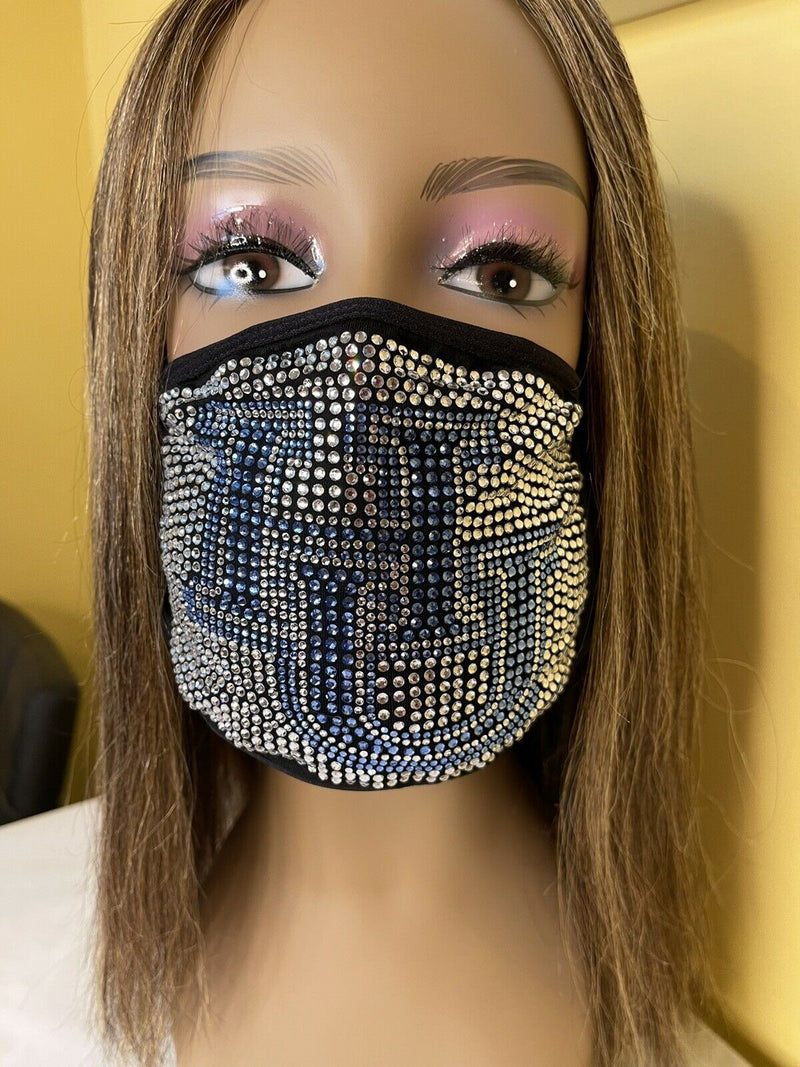 Hampton University Bling Face Mask