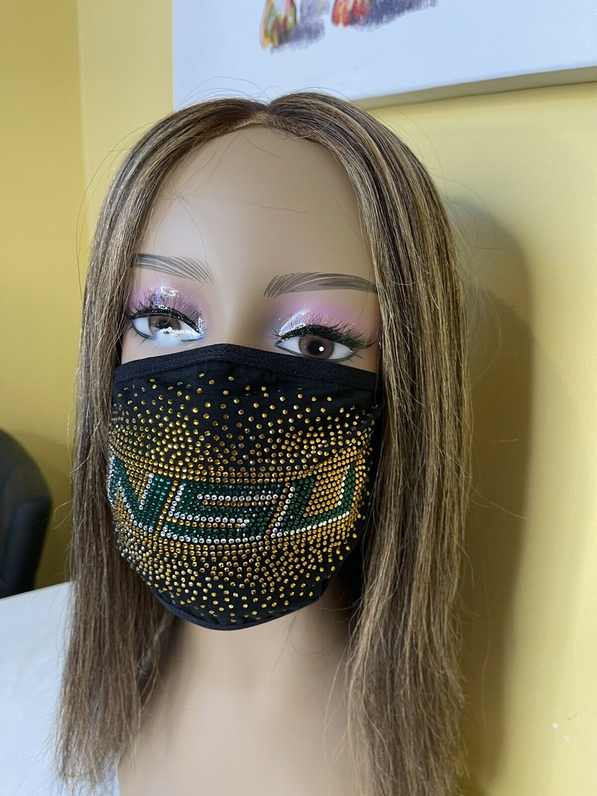 Norfolk State University Bling Face Mask