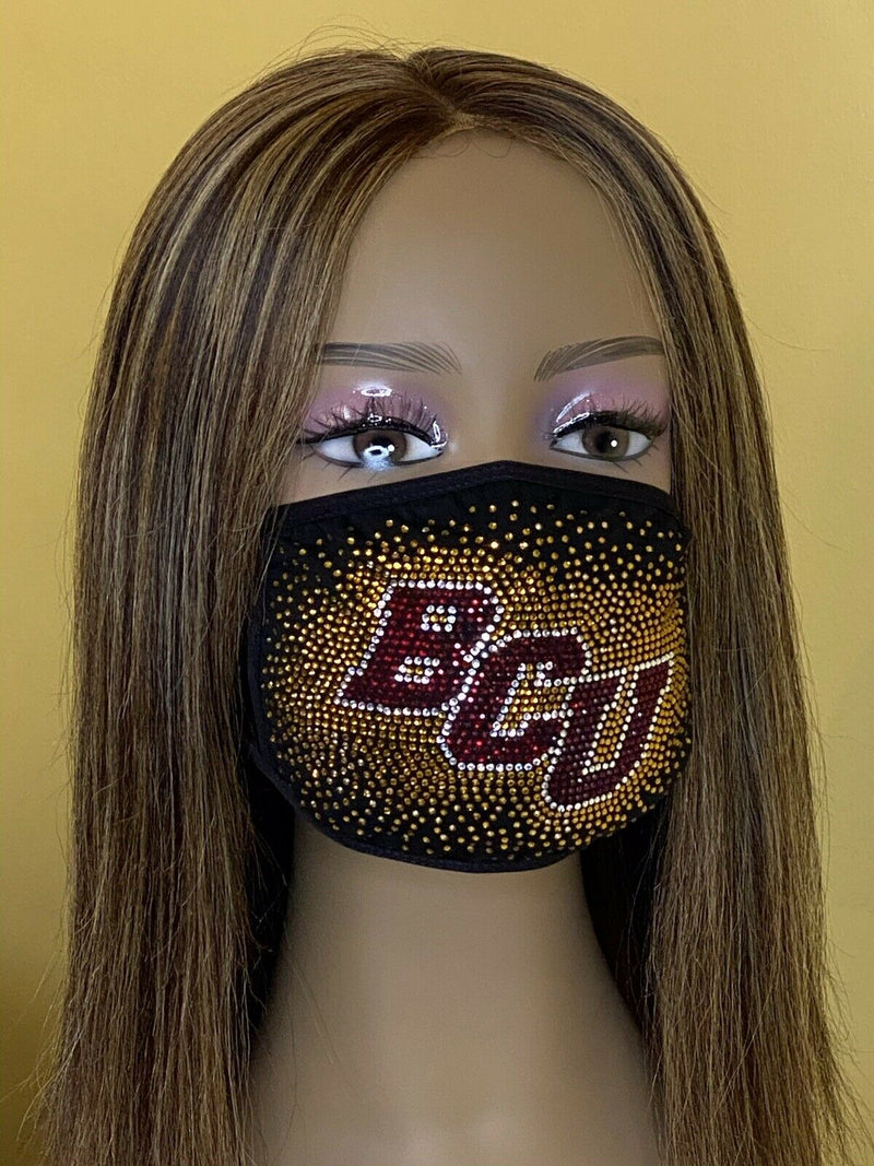 Bethune Cookman University Bling Face Mask with Filter