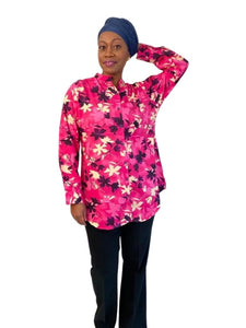 Printed Wash n Wear Shirts and Tunics with roller sleeves