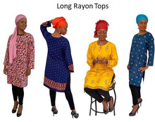 Load image into Gallery viewer, Rayon Long tunics