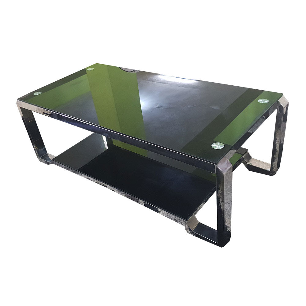 Jairo Black Glass Center table