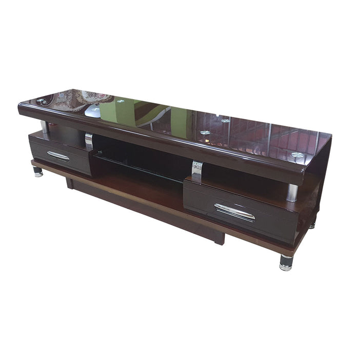 Vida  Glass TV Stand | 4ft - Domestico Furniture