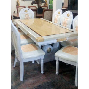 Antolin 6 Seaters Royal Marble Dining Set - Domestico Furniture
