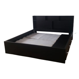 Flip Black Bed with Drawers