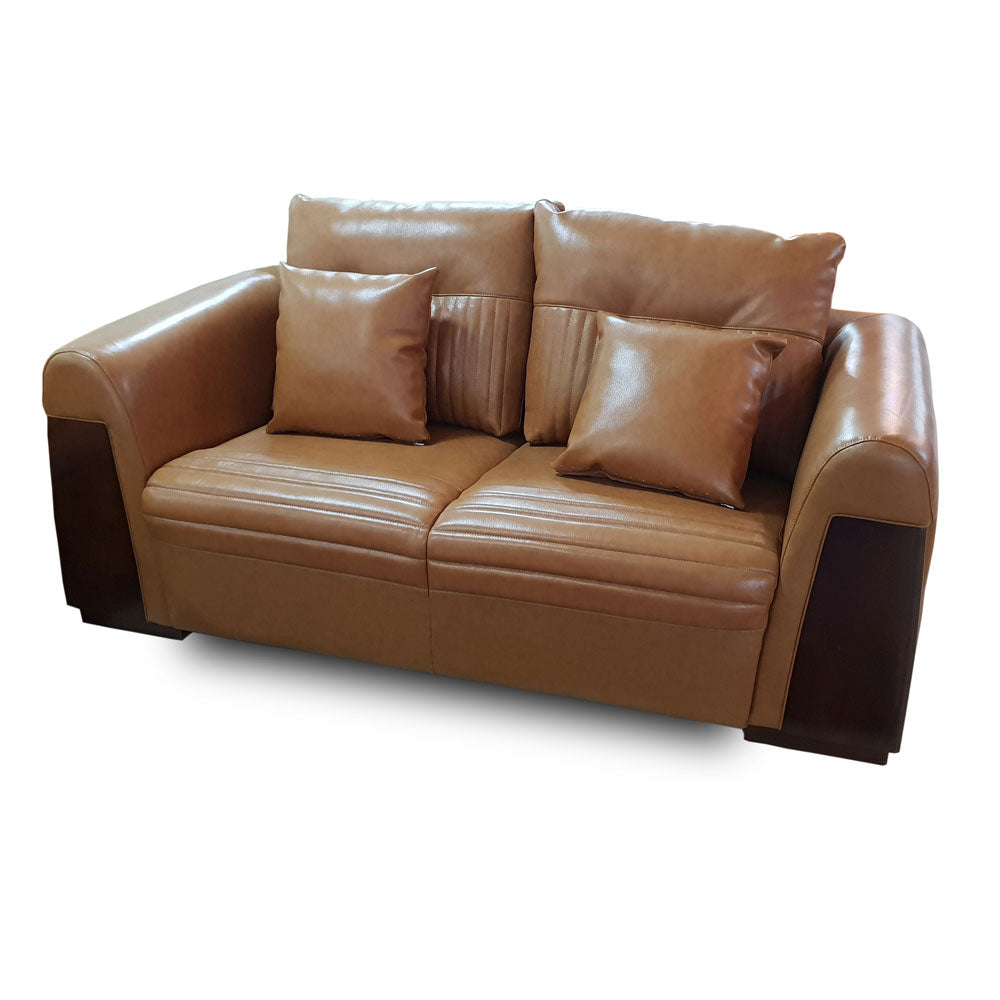 Belen 7 seater Brown leather Sofa Set - Domestico Furniture