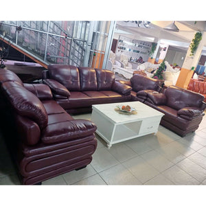 Nina 7 seater Leather Sofa Set - Domestico Furniture