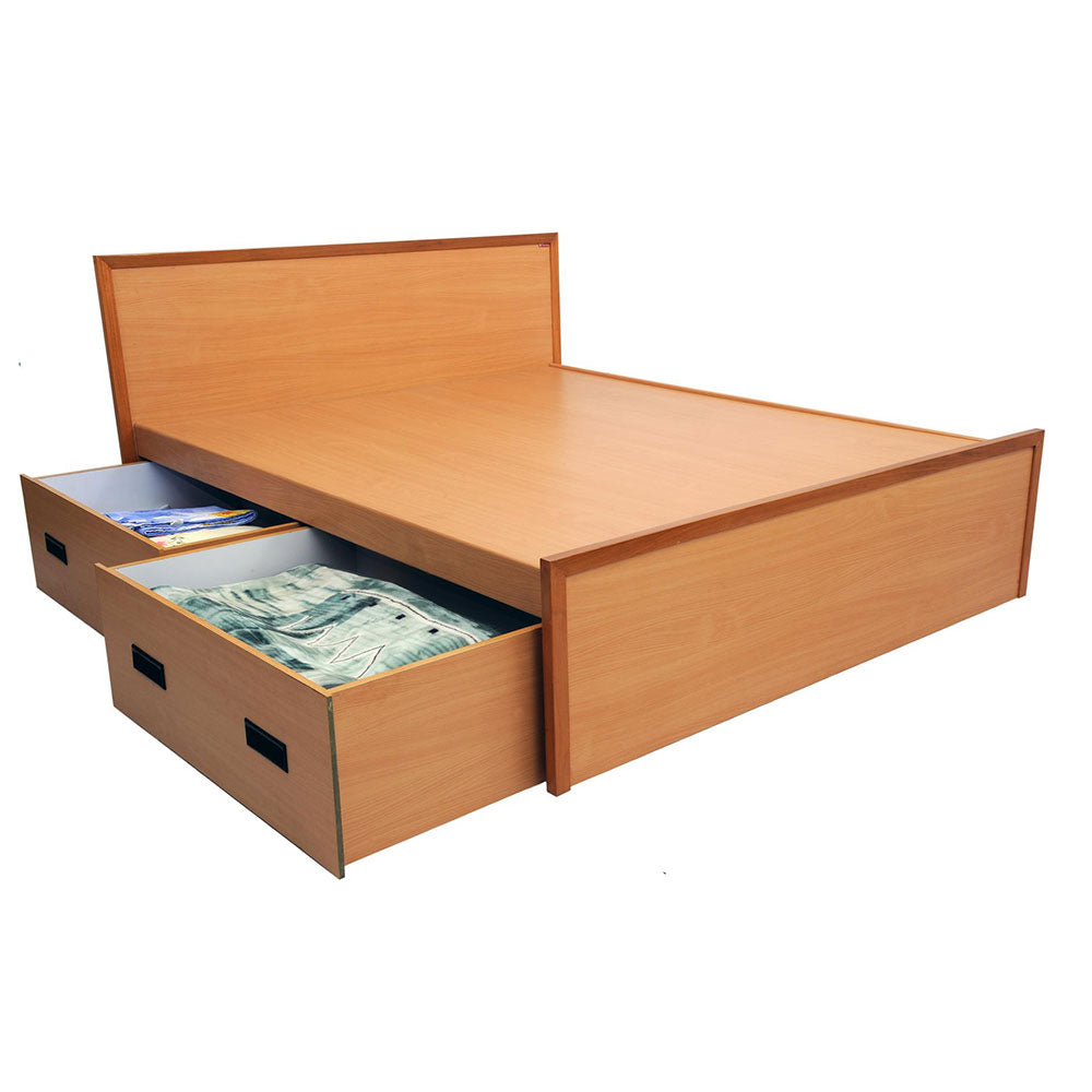 Tula Brown Bed with Drawers