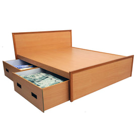 Tula Brown Bed with Drawers - Domestico Furniture