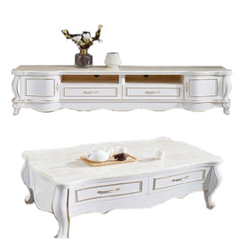 Delmar White Marble Center table - Domestico Furniture